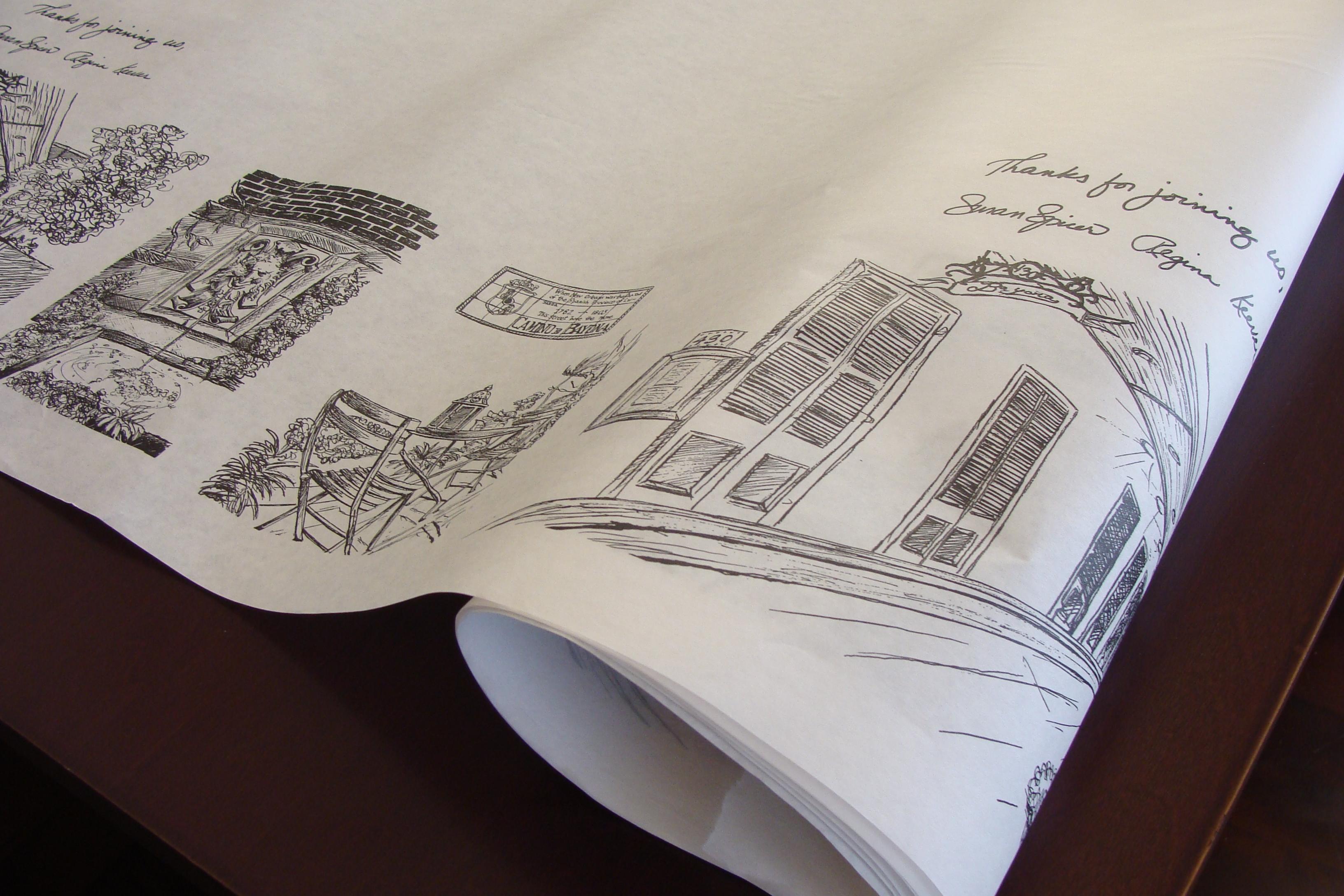 Bayona Kraft Paper Tabletop Cover