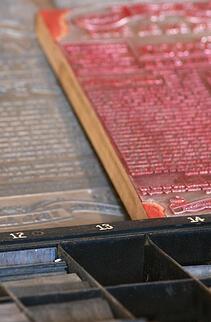 Vintage Printing Press Plates