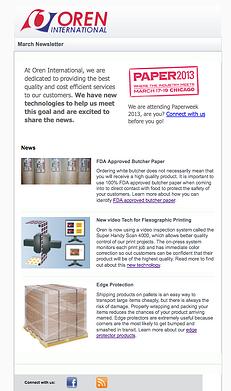 Oren Newsletter Sample