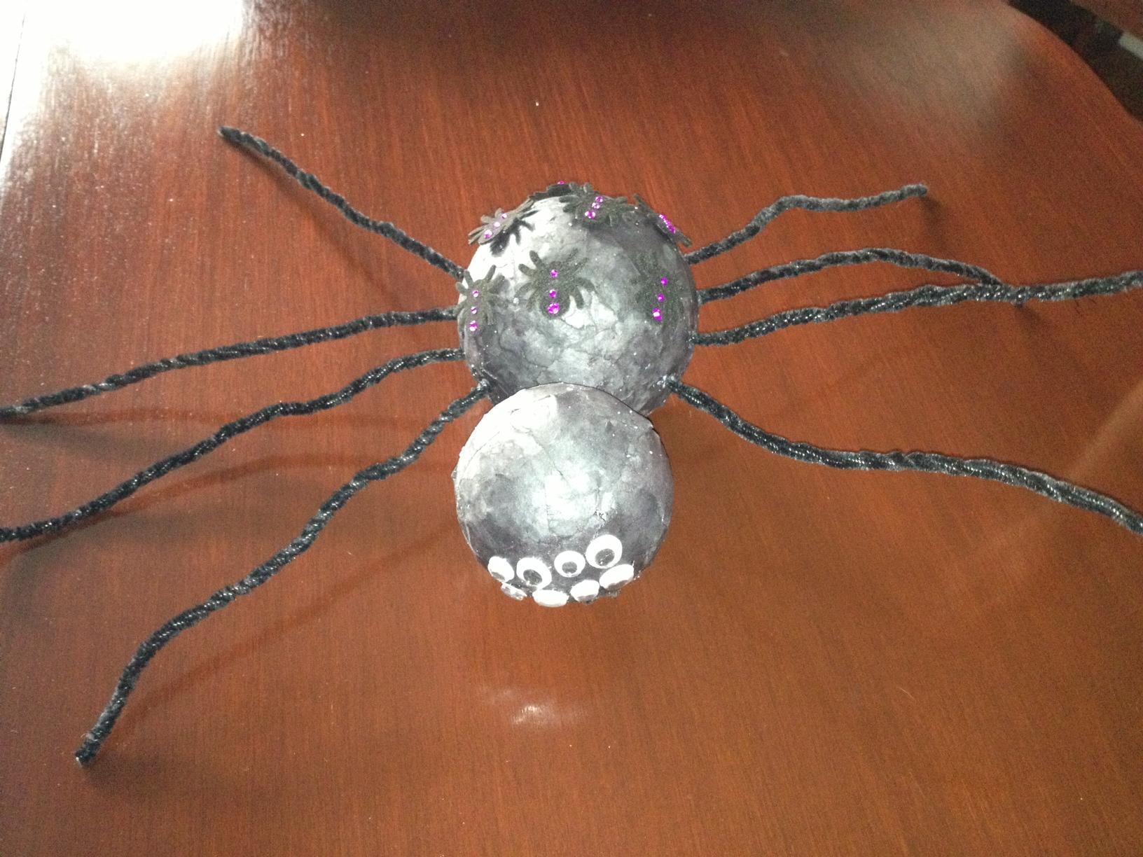 black Kraft paper spider