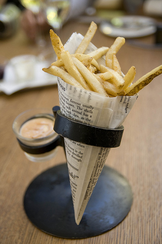 paper cones   french fries