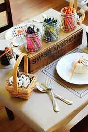 kraft paper table cover