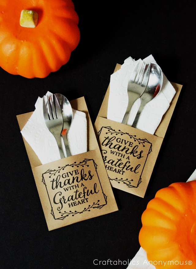 kraft paper utensil holder